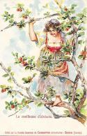 La Cueilleuse D 'abricots. Societe General De Conserves Alimentaires. Swiss. Unused Crad - Publicité