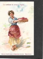 Lae Cueilleuse De Cerises A Naples. Gnerale De Conserves Alimentaires. - Saxon. Swiss. Unused Card - Publicité