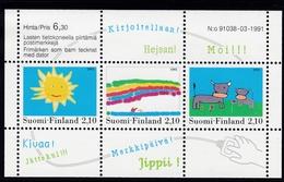 1991 Finnland,  1149/51 Block 7, Kinderzeichnungen.  MNH **