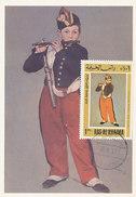 D29009 CARTE MAXIMUM CARD 1967 RAS AL KHAIMA - THE FLUTE PLAYER BY MANET CP ORIGINAL