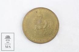 1969 Vintage TOTAL Brass Advertising Token - Napoleon A La Beresina 1812 - D'Apres Motte - Francia