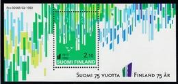 1992 Finnland,  1187 Block 9, 75 Jahre Unabhängigkeit. MNH **