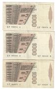 1000 LIRE MARCO POLO SERIE XF...A + XF...B + XF....C 1988 Bel Lotto  LOTTO 1578 - 1000 Lire