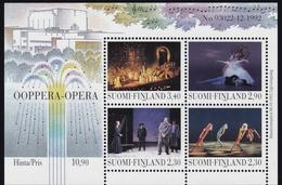 1993 Finnland,  1229/32 Block 10, Opernhaus Helsinki. MNH **
