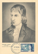 D29017 CARTE MAXIMUM CARD 1955 FRANCE - INVENTOR PHILIPPE LEBON CP ORIGINAL