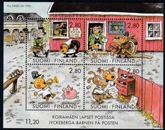 1994 Finnland, 1270/73 Block 14,  Comics,  MNH *
