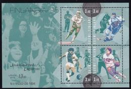 1995 Finnland, 1284/87 Block 15,  Briefmarkenausstellung FINLANDIA '95, Helsinki; Spitzensportler   MNH *