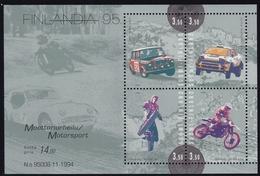 1995 Finnland, 1297/00 Block 16,  Briefmarkenausstellung FINLANDIA '95, Helsinki; Motosport.  MNH *
