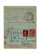 Carte Pneumatique 40 + Semeuse Cachet Paris