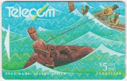 NEW ZEALAND A-474 Magnetic Telecom - Culture, Traditional Tales - 131BO - Used - Nouvelle-Zélande