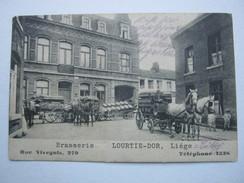 LIEGE , Lüttich , Brasserie    ,Carte  Postale  ,  2 Scans