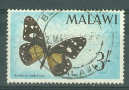 Malawi: 1966   Malawi Butterflies   SG250    3/-    Used