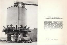 1961 - Héliogravure - Châlons-en-Champagne (Marne) - Le Silo à Pulpe - FRANCO DE PORT - Old Paper