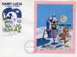 S. Lucia 1980, Walt Disney, Space, BF In FDC