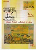 WHALE HUNTING HISTORY, SHIP, GRYTVIKEN, PC STATIONERY, ENTIER POSTAL, 2004, ROMANIA