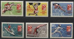 USSR 1964. 2987-2992 (3079-3084) XVIII OLYMPIC GAMES TOKYO-64