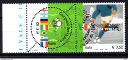 ITALIA  2002 Calcio: Campioni Del Mondo Usato / Used 1° Giorno - 6. 1946-.. República
