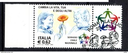 ITALIA  2003 Servizio Civile Nazionale   Usato / Used 1° Giorno - 6. 1946-.. República