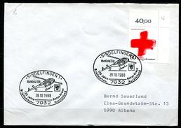 """Germany,Allemagne 1988 Sonderbeleg/Cover Rotes Kreuz Mit Mi.Nr.1387 U.SST""""Sindelfingen -125 Jahre Rotes Kreuz. """" 1 Beleg"""