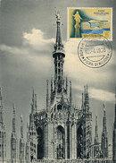 D29042 CARTE MAXIMUM CARD 1958 SAN MARINO - CATHEDRAL MILANO CP ORIGINAL
