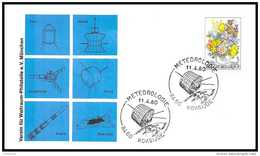 8463/ Espace (space Raumfahrt) Lettre (cover Briefe) 14/11/1980 Meteorologie Kokijde Belgique