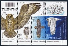 1998 Finnland, 1445/49 Block 19,  Eulen. MNH **
