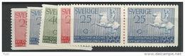 1956 MNH Sweden, Sverige, Postfris