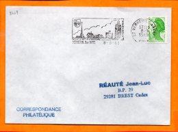 EURE, Verneuil Sur Avre, Flamme SCOTEM N° 8409, Ville D'art Et D'histoire - Postmark Collection (Covers)