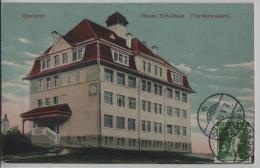 Speicher - Neues Schulhaus (Vorderansicht) - Litho Ernst Zellweger - AR Appenzell Rhodes-Extérieures