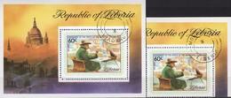 London Sir Churchill 1975 Liberia 945+Block 74 O 8€ Maler/Politiker Hb Painting Bloc Ss Architectur Sheet Bf Africa