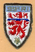 Ecusson Du 99° RI -  99° Régiment D'Infanterie - Ecussons Tissu