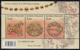 1999 Finnland, 1470/72 Block 21,  Alter Schmuck. MNH **