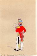 Lieutenant De Grenadiers Des Régiments Suisses.dimensions :175 X 143 Mm.Original. - Aquarelles