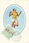 D29053 CARTE MAXIMUM CARD 1965 HUNGARY - ATHLETICS RUNNING UNIVERSIADE CP ORIGINAL - Athletics
