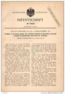Original Patentschrift - A. Reuschel & Co In Schlotheim I. Th., 1892 , Herstellung Doppelter Schläuche , Weberei , Weber - Sonstige