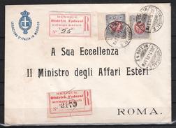 Mexiko 1901, R-Brief Vertretung Italiens In Mexiko, Sukkulente / Mexico 1901, Reg. Letter Of Repr. Of Italy In Mexico
