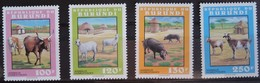 Burundi 1993 OCBn° 1035-1038 *** MNH Cote 12,50 Euro Faune Huisdieren Animaux Domestiques