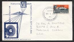 Mexiko 1964, Brief: BM-Ausst. Monterrey, Sukkulente / Mexico 1964, Cover: Stamp Exhib. Monterrey, Sukkulente