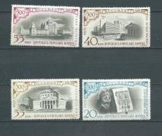 Roumanie    -  Yvert N° 1637 / 1640  -    4 Valeurs ** Cw 22703j
