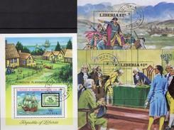 Unabhängigkeit USA 1976 Liberia Bl.76,100+102 O 11€ Präsident Washington Ms Military Blocs History Sheets Bf Africa - George Washington