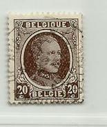 (423) Timbre Belgique Roi Albert I   N° 196 - 20c - 1922-1927 Houyoux