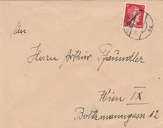 Autriche Lettre De Wien 1945