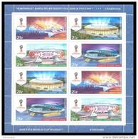 RUSSIA 2015 Sheet MNH ** VF WORLD CUP 2018 FOOTBALL SOCCER WC SPORT STADION STADIUM LUZHNIKI SPARTAK SOCHI KAZAN 2032-35