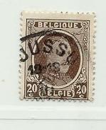 (431) Timbre Belgique Roi Albert I   N° 196 - 20c Oblitération Boussu - 1922-1927 Houyoux