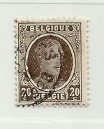 (446) Timbre Belgique Roi Albert I   N° 196 - 20c - 1922-1927 Houyoux