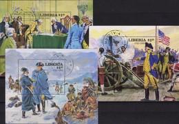 Unabhängigkeit USA 1976 Liberia Bl.99,100+102 O 13€ Präsident Washington Ms Military Blocs History Sheets Bf Africa - George Washington