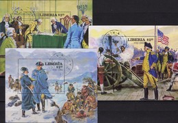 Unabhängigkeit USA 1976 Liberia Bl.99,100+102 O 13€ Präsident Washington Ms Military Blocs History Sheets Bf Africa