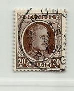 (459) Timbre Belgique Roi Albert I   N° 196 - 20c - 1922-1927 Houyoux