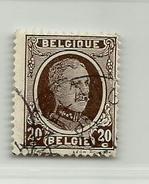 (466) Timbre Belgique Roi Albert I   N° 196 - 20c - 1922-1927 Houyoux