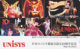 Télécarte Japon / 110-169874 - DISNEY DISNEYLAND - Unisys - Japan Phonecard Telefonkarte - Disney